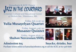 Yulia Musayelyan Quartet @ Armenian Cultural and Educational Center | Watertown | Massachusetts | United States