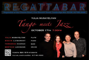Yulia Musayelyan: Tango meets Jazz @ The Regattabar | Cambridge | Massachusetts | United States